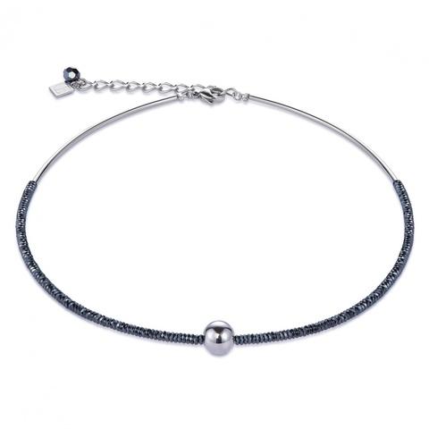 Колье Coeur de Lion 4932/10-1700 цвет серебряный, серый