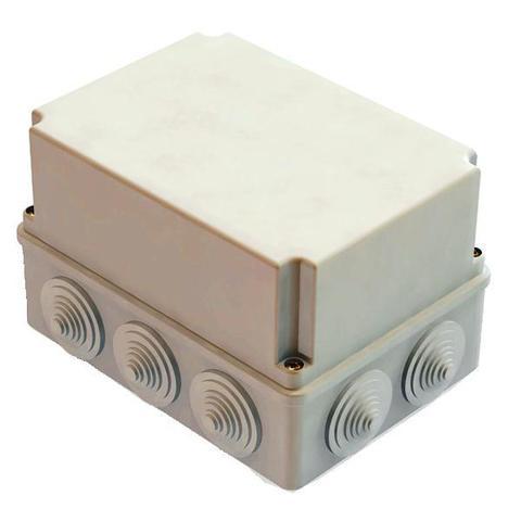 Распаячная коробка ОП 190х140х120мм, крышка, IP44, 10 гермовводов, инд. штрихкод, TDM
