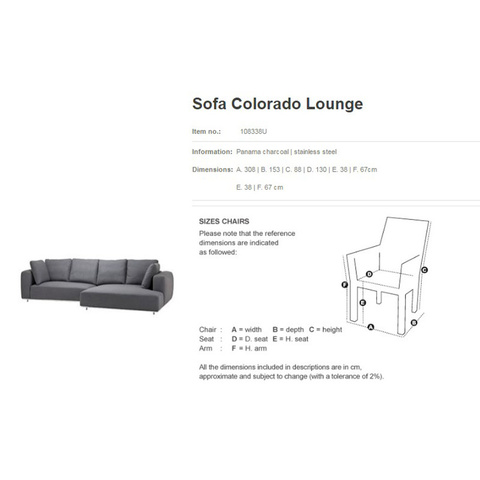 Диван Eichholtz 108338U Colorado Lounge