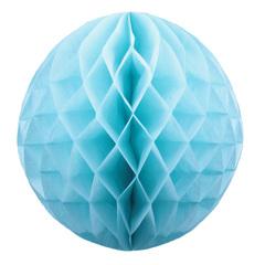 Бумажное украшение шар 40 см голубой