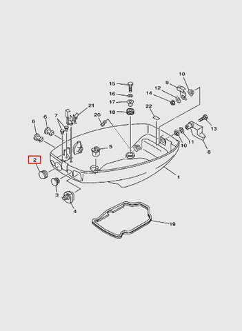 Заглушка  для лодочного мотора T15, OTH 9,9 SEA-PRO (10-2)