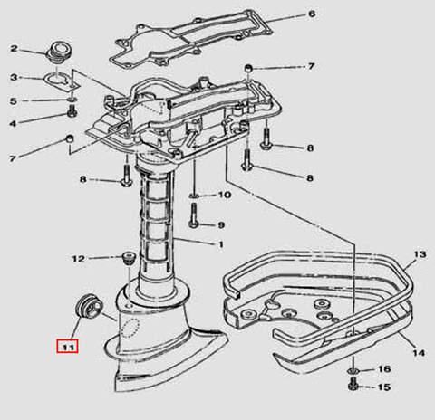 Заглушка дейдвуда для лодочного мотора F5 Sea-PRO(17-11)