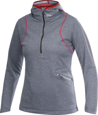 Толстовка Craft Active Logo Hood серая женская Распродажа