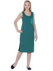 X239-2 Сарафан женский, зеленый