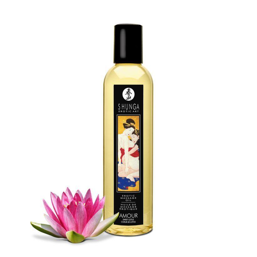 Массажные масла и свечи: Массажное масло с ароматом цветков лотоса Amour Sweet Lotus - 250 мл.