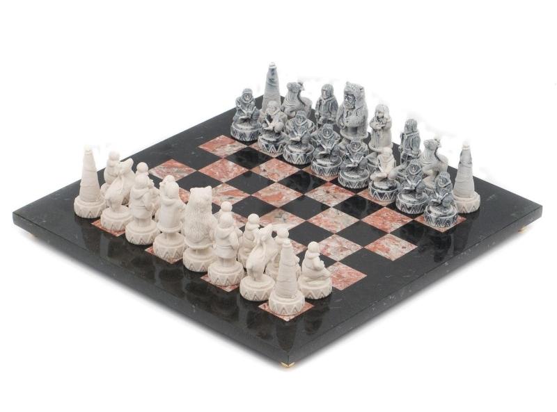 Шахматы «Северные народы» креноид, змеевик от 11 990 руб
