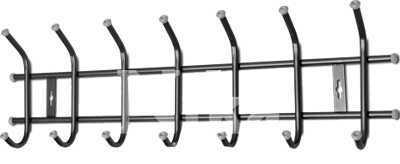 Вешалка настенная на  7 крючков ВНТ7 (цвет черный), Ника, г. Ижевск