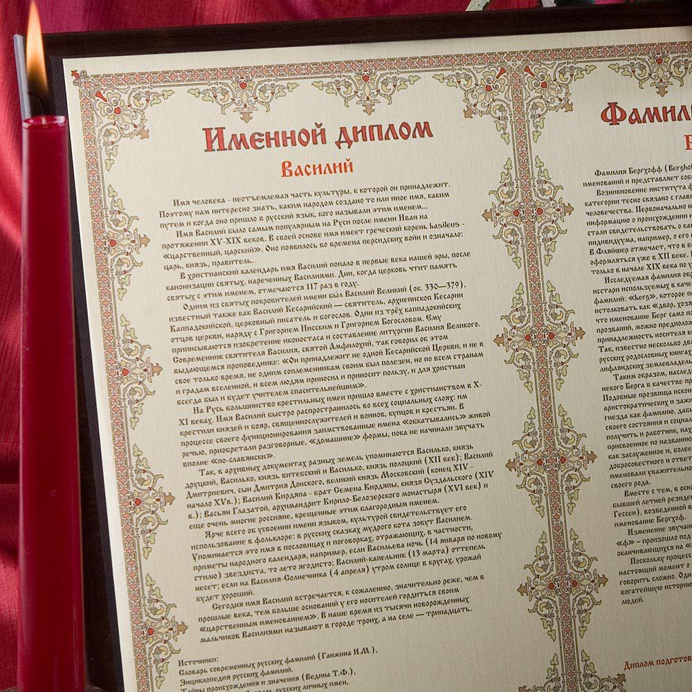 Официальный магазин фамильных дипломов центра исследований Анализ   Двойной диплом на металле А3