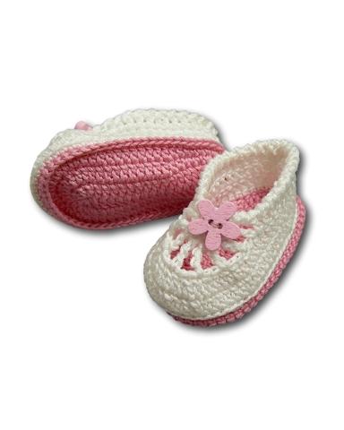 Вязаные туфли летние - Розовый. Одежда для кукол, пупсов и мягких игрушек.