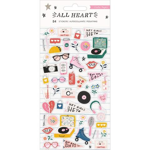 Стикеры объемные  9х17см -All Heart от Crate Paper