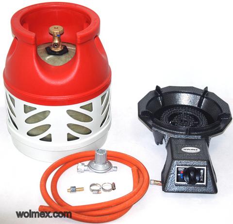 Комплект 42. Горелка газовая Wolmex CGS-4R3 с композитным баллоном и редуктором EN61 - V50