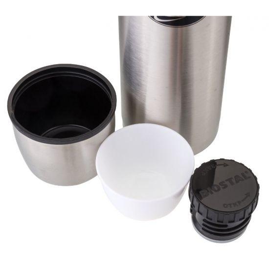 Термос Biostal Охота (1 литр) в чехле, стальной*