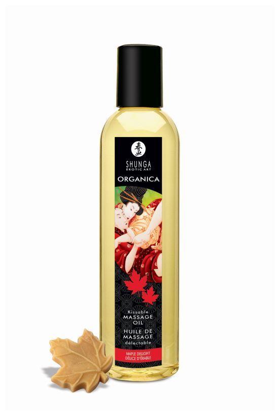Массажные масла и свечи: Массажное масло с ароматом кленового сиропа Organica Maple Delight - 250 мл.