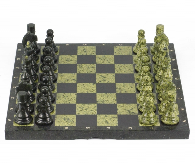 Шахматы камень, змеевик доска от 25 990 руб