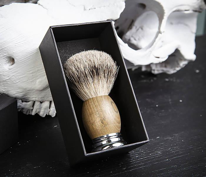 RAZ429-2 Помазок из барсука с деревянной рукояткой фото 03