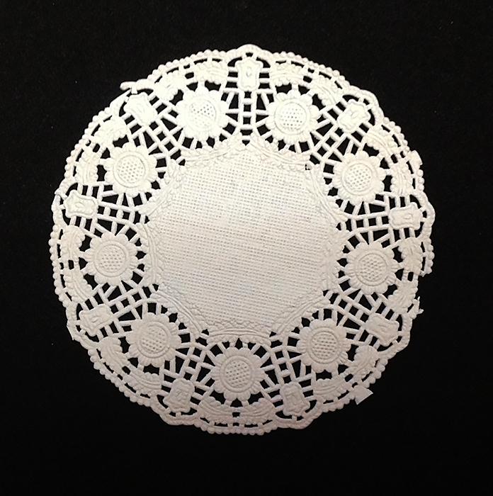 Салфетка бумажная ажурная для декора. Круглая, 10 шт.
