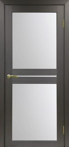 Дверь Optima Porte Турин 520.222, стекло матовое, цвет венге, остекленная