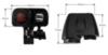 Двойная USB розетка с термометром и вольтметром на руль мотоцикла