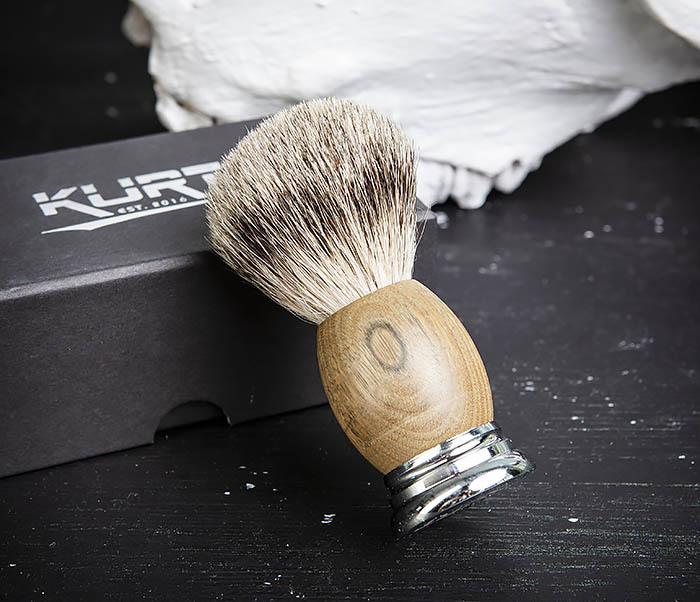 RAZ429-2 Помазок из барсука с деревянной рукояткой фото 04