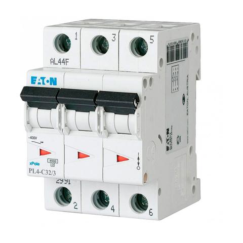 Автоматический выключатель Eaton PL4-C32/3P (293163 Moeller series)