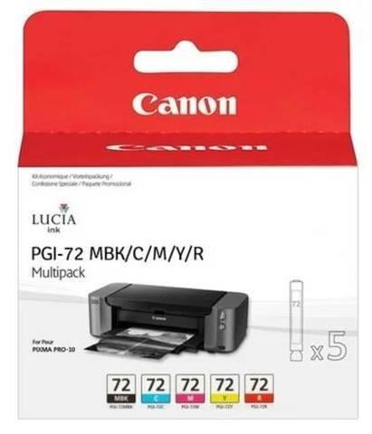 Картриджи Canon PGI-72 MBK/C/M/Y/R для Canon PIXMA PRO-10. Комплект 5 картриджей