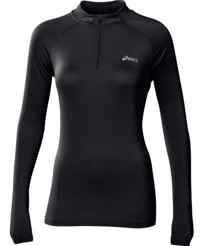 Рубашка Asics LS 1/2 Zip Top женская black