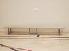Скамейка гимнастическая на металлических ножках 4.0м (массив дерева).