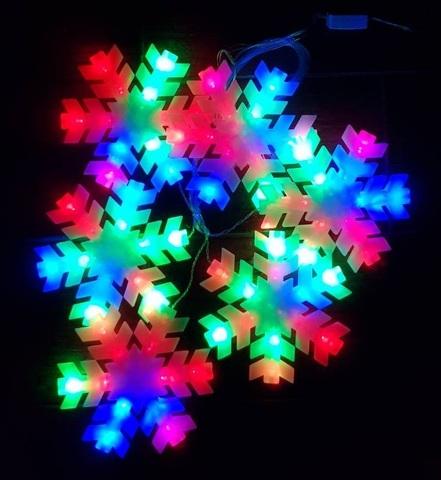 LED гирлянда снежинки