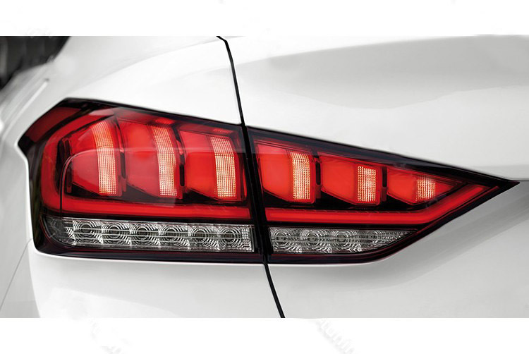 Штатные светодиодные задние фонари Mobis 92401B1600 / 92402B1600 для Genesis G80 2017 - led rear bumper light rear fog lamp brake light for toyota prado 2700 4000 lc150 2010 16 2pcs
