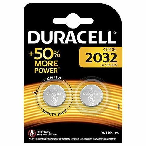 Батарейки литиевые Duracell CR 2032, 3V (2/20) BL