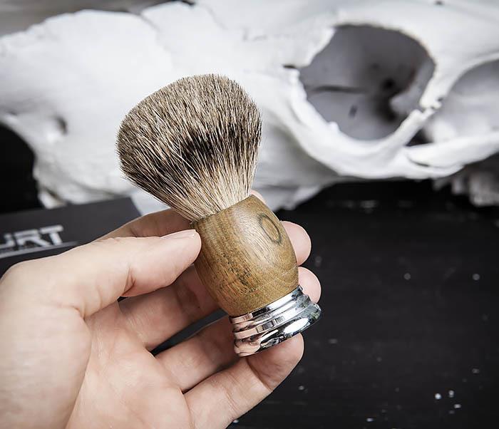 RAZ429-2 Помазок из барсука с деревянной рукояткой фото 06