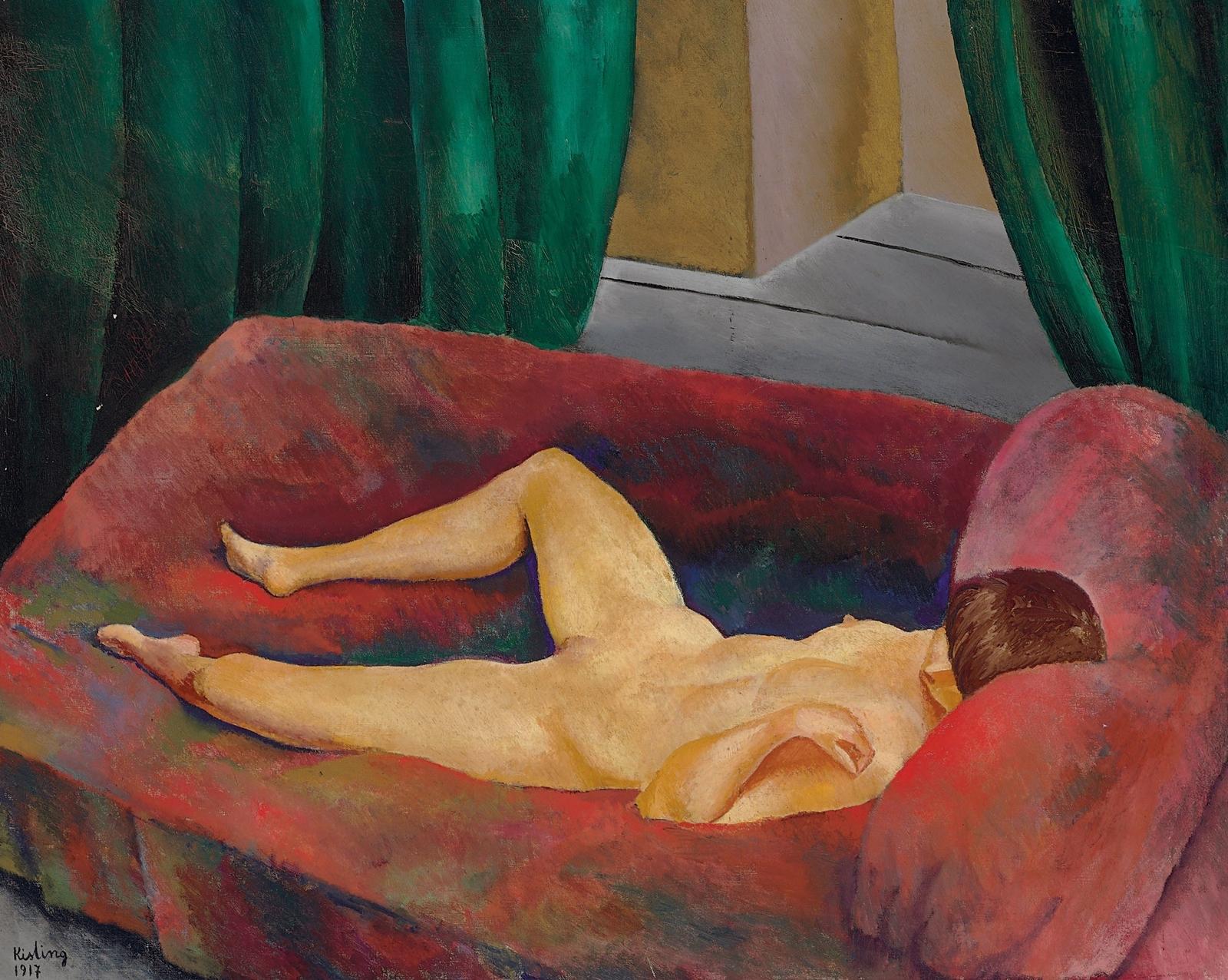 Моисей Кислинг. 1917. Ожидание (The Waiting). 79.7 x 99.. Холст, масло. Частное собрание.