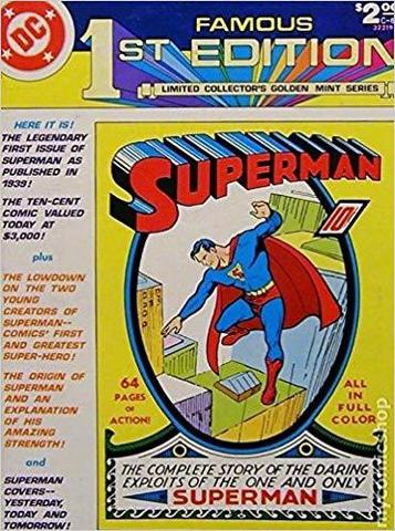 Superman Famous 1st Edition. Limited Collector's Golden Mint Series - 1979 год