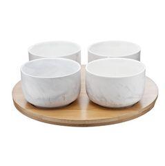 Набор чаш на подставке Roomers Marble Grey