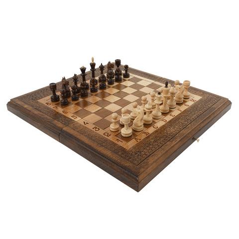Шахматы + Нарды резные 50, Haleyan kh113