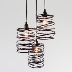 Spiral Nest Cascading 3 Light Chandelier, Bronze -Open Box By Zac Ridgely, from Ridgely Studio Works