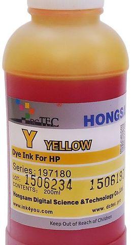 Чернила водные DCTec DCD-T610 yellow 200мл. Для HP T120, T520, T610, T1100, T1120. Серия 197180