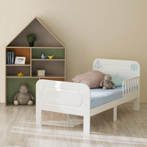 Кровать подростковая Феалта-baby Море, белая
