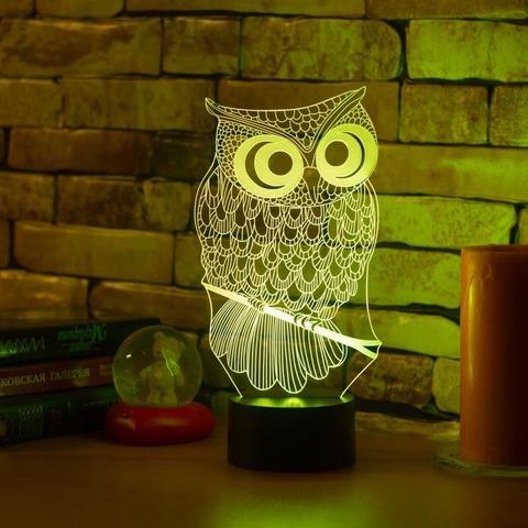3D ночник Сова