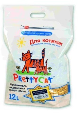 PRETTY CAT WOOD GRANULES FOR KITTENS