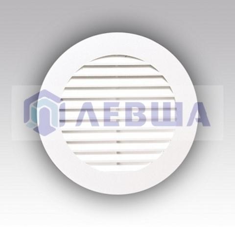 Решетка вытяжная круглая с фланцем ф100 мм