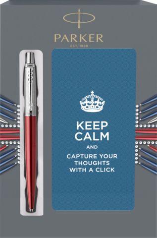 Подарочный набор с блокнотом и Шариковая ручка Parker Jotter Essential, Kensington Red CT