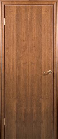 Дверь Краснодеревщик ДГ 200, цвет тёмный орех, глухая
