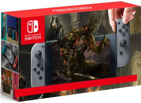 Nintendo Switch (серый) + DARK SOULS™: REMASTERED