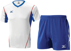 Мужская волейбольная форма Mizuno Premium (V2EA4501M 01-V2EB4501M 14) белая