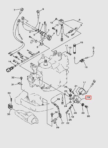 Кронштейн соленойда для лодочного мотора T40 Sea-PRO (10-19)