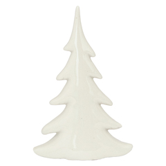 DECORATION TREE WHITE 19CM