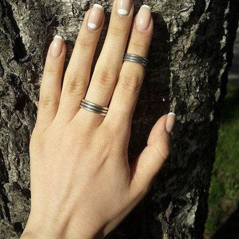 Phalanx ring Rock 'n' roll together, the big one, sterling silver
