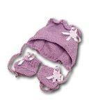 Капор - Сиреневый. Одежда для кукол, пупсов и мягких игрушек.