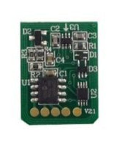 Чип для OKI C822 для голубого тонер-картриджа - Cyan chip oki c822. Ресурс 7300 страниц